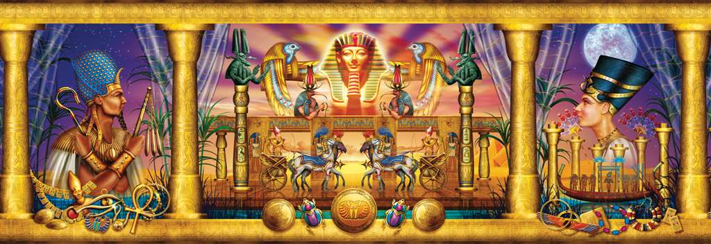 Clementoni Jigsaw Puzzle 1000 Pieces egyptian triptych ciro marchetti 2010 egyptian-triptych-panorama