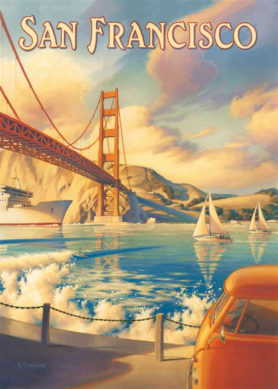 Jigsaw Puzzle Clementoni 1000 Pieces san francisco JigsawPuzzle Clementoni Puzzel Art Fantasy san-francisco-fantasy-art