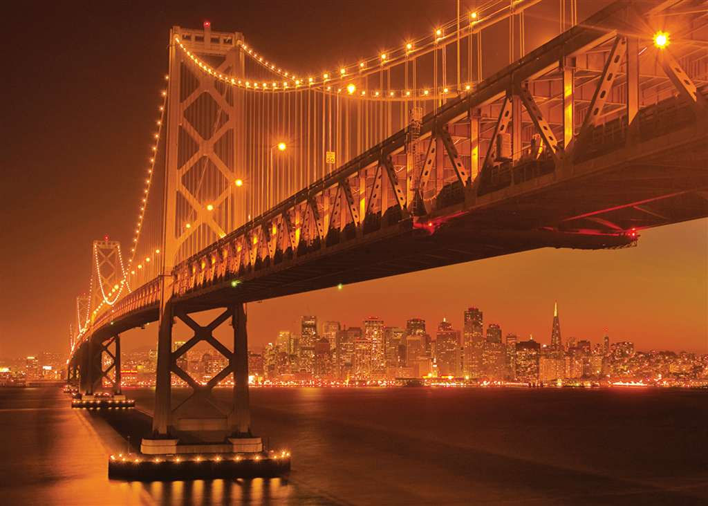 San Francisco flourescent jigsaw puzzle, clementoni 1000 pieces puzzle san-francisco-flourescent