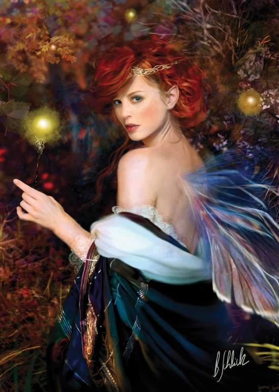 fairies line of clementoni jigsaw puzzles titled spellbinder portrait of a beautiful young fairy 100 spellbinder-portrait