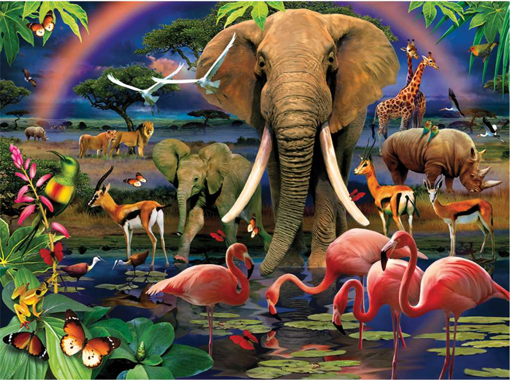 clementoni jigsaw puzzle, 1000 pieces, paintin of an african savannah by howard robinson clementoni african-savannah
