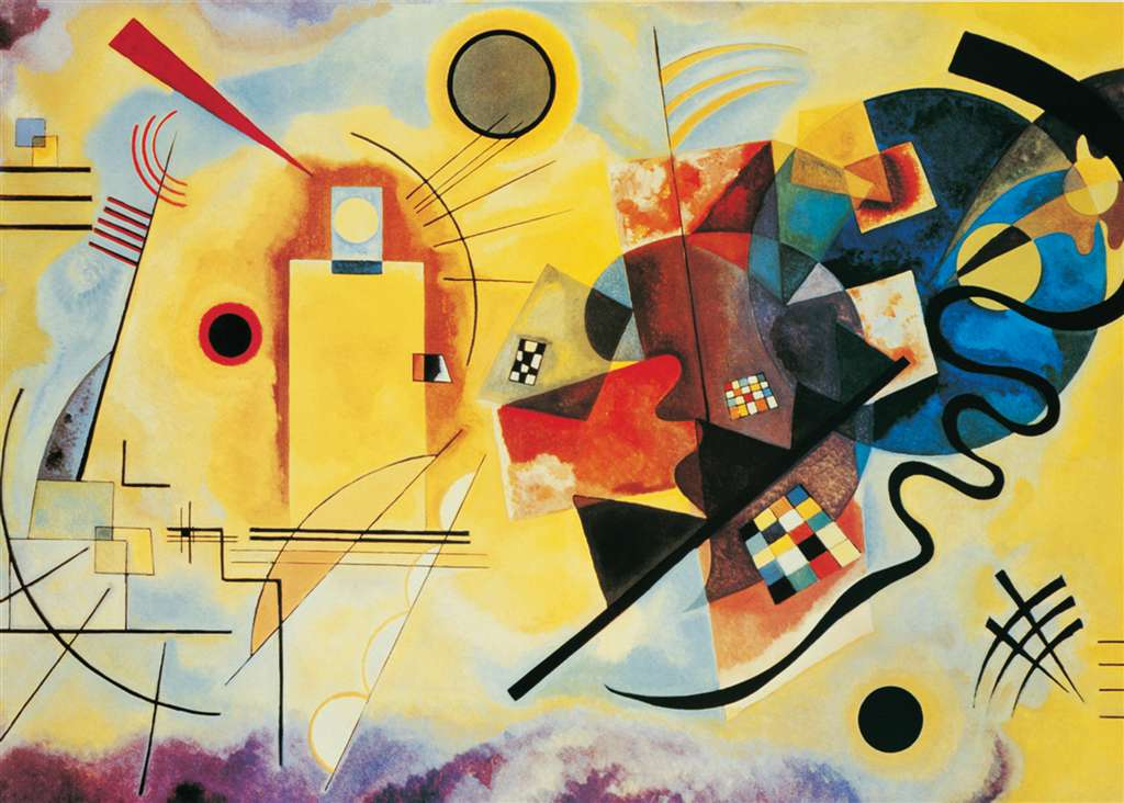 Clementoni Jigsaw Puzzle 1000 Pieces Wassily kandinsky russian painter 2010 yellow-red-blue-kandinsky