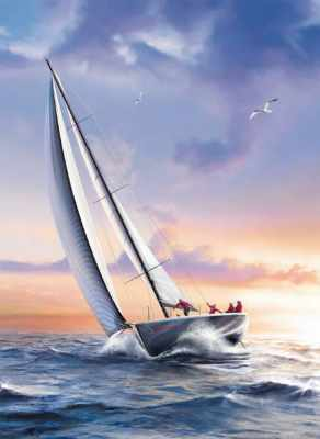 Clemmy Puzzle Jigsaw vincenzo auletta sail boat 1000 pieces # 39208 sail-boat-vincenzo-auletta