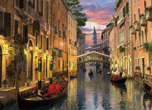 Venezia, Romantic Italy, 1000 Piece Jigsaw Puzzle # 39218 made by Clementoni Italian Puzzle Makers venezia-romantic-italy