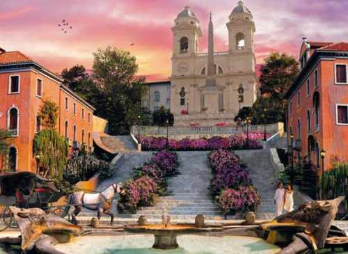 Rome, Romantic Italy, 1000 Piece Jigsaw Puzzle # 39219 made by Clementoni Italian Puzzle Makers rome-romantic-italy