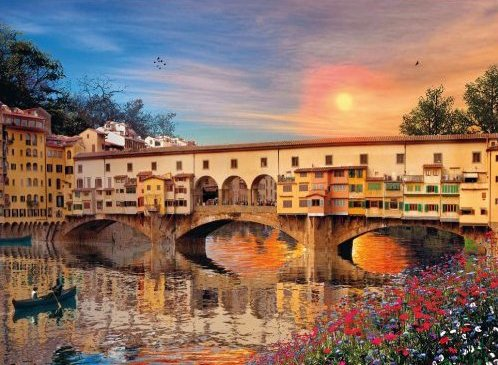Firenze, Romantic Italy, 1000 Piece Jigsaw Puzzle # 39220 made by Clementoni Italian Puzzle Makers firenze-romantic-italy