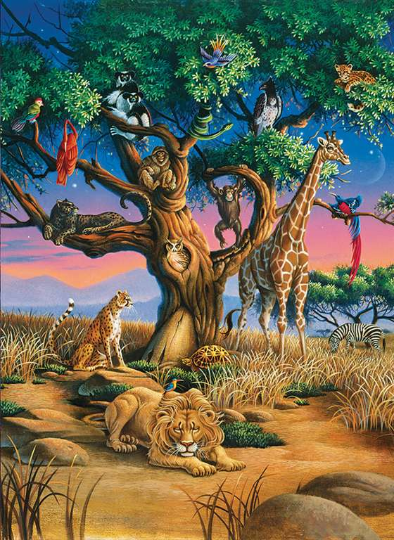 Clementoni JigsawPuzzle 1000 pieces African Wildlife beautiful colors panoramic 39233 african-wildlife
