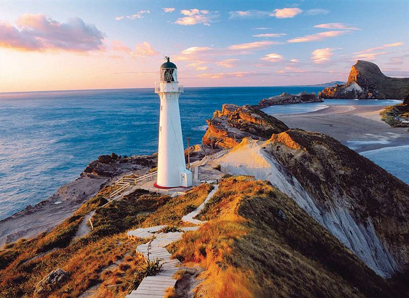 new zealand lighthouse jigsaw puzzle by clementoni, 1000 pieces # 39236 new-zeland-lighthouse