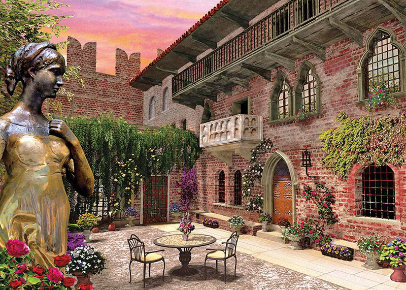 Verona: Rome & Juliet, Romantic Italy, 1000 Piece Jigsaw Puzzle # 39220 made by Clementoni Italian P verona-romantic-italy
