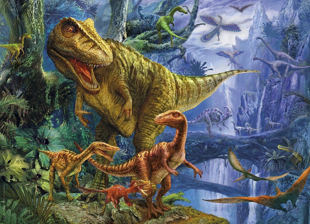 magic 3d effect with 3d glasses clementoni jigsaw puzzle 1000 piecves dino valley dinosaur-valley