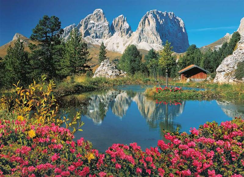 Passo Pordoi with a view to Sassolungo jigsaw puzzle clementoni 1000 Pieces # 39273 passo-pordoi-sassolungo