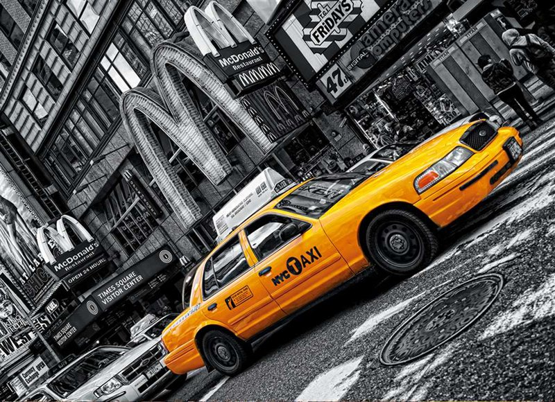 Clementoni JigsawPuzzle 1000 Pieces by Clem Games & Puzzles Germany yellow new york taxi cab new-york-taxi-clementoni