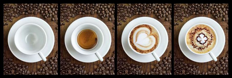 Jigsaw Puzzle 1000 pieces Coffee Panoramic photo manufactured by Clementoni coffee-panoramic