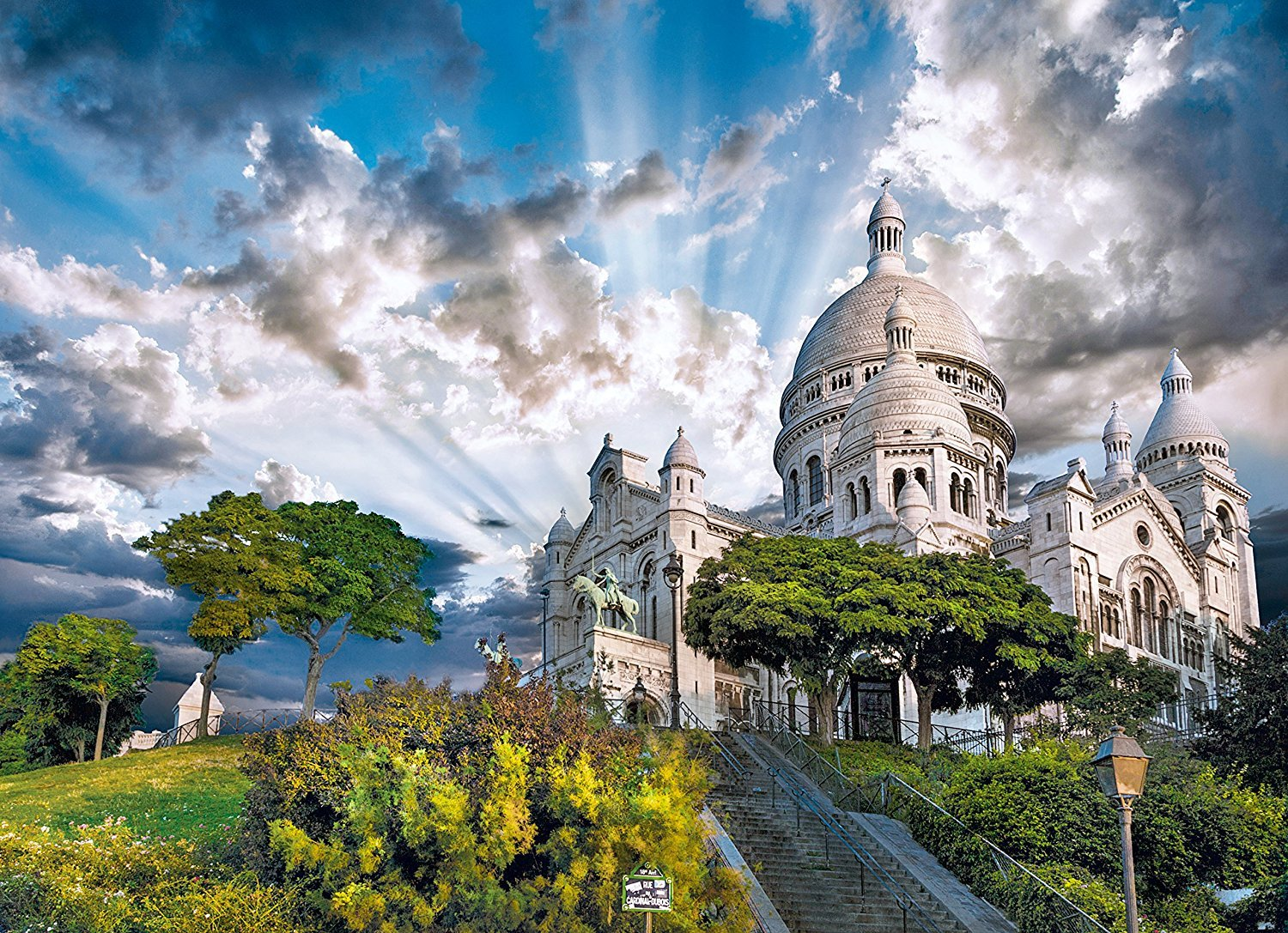 jigsaw puzzle Montmartre, Paris 1500 piece beautiful clementoi puzzle 393831 montmartre-paris-1000