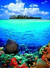 puzzle of a tropical island in a beautiful world, 1000 pieces jigsaw clementoni Puzzle