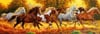 Running Horses Panoramic View Jigsaw Puzzle made by Clementnoi JigsawPuzzles # 313006 Puzzle