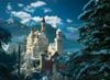 jigsaw puzzle of newschwanstein castle, clementoni, 1000 pieces puzzle of castles