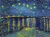 starrynightontherhone,VincentVanGogh painting StarryNight Jigsaw Puzzle # 314072 by Clementony Puzzles now Ravensburger