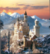 jigsaw puzzle of newschwanstein castle, clementoni, 1500 pieces puzzle of castles