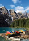 moraine lake banff national park alberta canada jigsaw puzzle, 1500 pieces clementoni landscape puzz