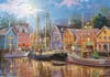 sailing-in-the-village,Nicky Boehme Artist sailing in the village clementoni puzzle # 31995 puzzel