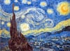 starrynight,StarryNight Vincent VanGogh Jigsaw Puzzle Clementoni 2000 Pieces # 320783