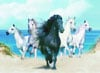 2000Piece Jigsaw Puzzle ClementoniPuzzles Dream Horses photographic fantasy image tropical
