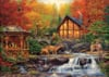 clementoni jigsaw puzzle, chuck pinson artwork cottage in autumn, 3000 pieces puzzle