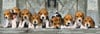 beagle dogs family, 1000 puzzle, all in a row, clementoni jigsaw puzzle, 1000 pieces, 39076