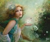 fairies line of clementoni jigsaw puzzles titled herald of spring portrait of a beautiful young fair