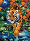 clementoni jigsaw puzzle, 1000 pieces, paintin of a tiger on the prowl by howard robinson clemen