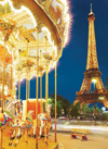 carousel eiffel tower paris jigsaw puzzle, clementoni, 1000 pieces # 39228