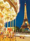 carousel eiffel tower paris jigsaw puzzle, clementoni, 1000 pieces # 39228 Puzzle