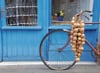 jigsaw puzzle en france bicycle beside blue house with bag of onions 1000p ieces beautiful clementoi Puzzle