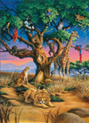 african-wildlife,Clementoni JigsawPuzzle 1000 pieces African Wildlife beautiful colors panoramic 39233