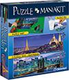Jigsaw Puzzle Clementoni 2000 Pieces Eiffel New York JigsawPuzzle Ravensburger Division Quality Puzzle