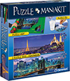 puzzle-mania-kit-eiffel-ny,Jigsaw Puzzle Clementoni 2000 Pieces Eiffel New York JigsawPuzzle Ravensburger Division Quality