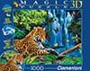 magic 3d effect with 3d glasses clementoni jigsaw puzzle 1000 piecves dino valley