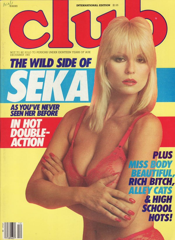 Club December 1983 magazine back issue Club magizine back copy the wild side of seka as you've never seen her before in hot double action miss body beautiful ritch