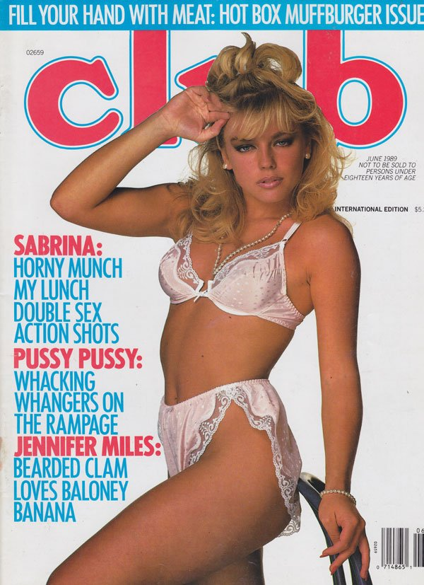 Club June 1989 magazine back issue Club magizine back copy club magazine 1989 back issues hot horny 80s babes spread wide horny dp sex shots pussy pix up close