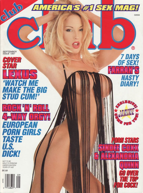 Club September 1997 magazine back issue Club magizine back copy lexus farrah's sindee coxx alexandria quinngo over the top for cock european porn girls watch me mak
