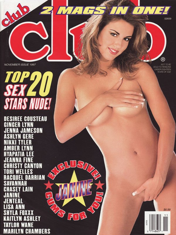 Club November 1997 magazine back issue Club magizine back copy desiree cousteau ginger lynn jenna jameson ashlyn gere nikki tyler amber lynn hyapatia lee jeanna fi