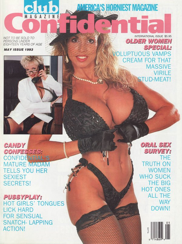 Club Confidential May 1993 magazine back issue Club Confidential magizine back copy older women special voluptuous vamps creamfor that massive vrile stud meat oral sex survey the truth