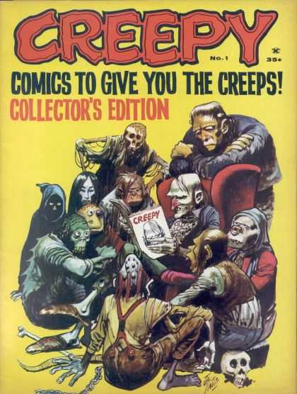 Creepy Comic Book Back Issues by A1 Comix