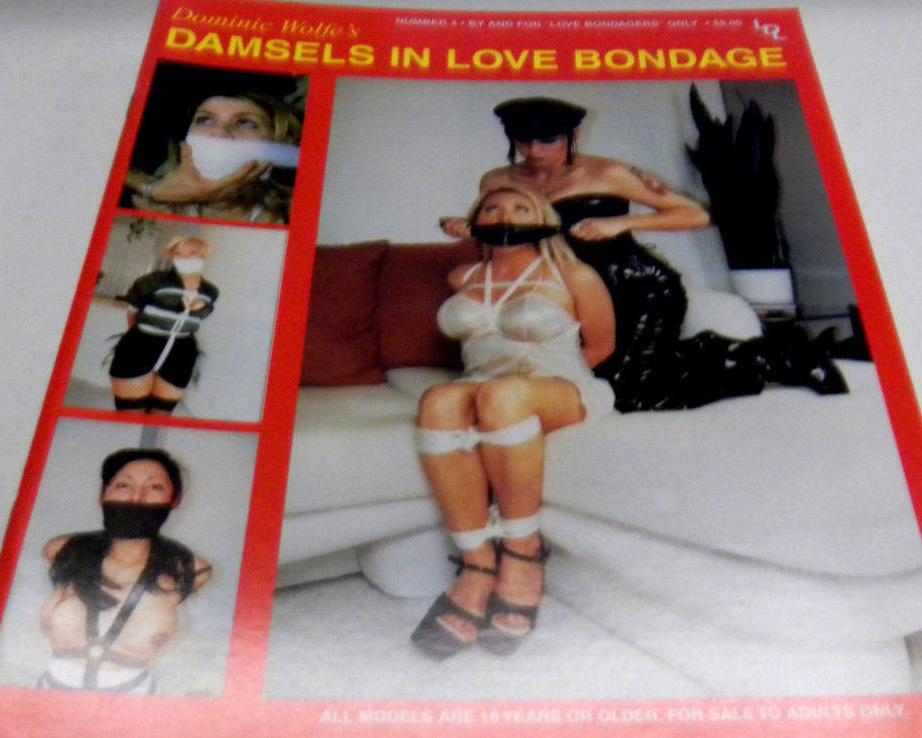 Damsel's in Love Bondage # 4 magazine back issue Damsel's in Love Bondage magizine back copy