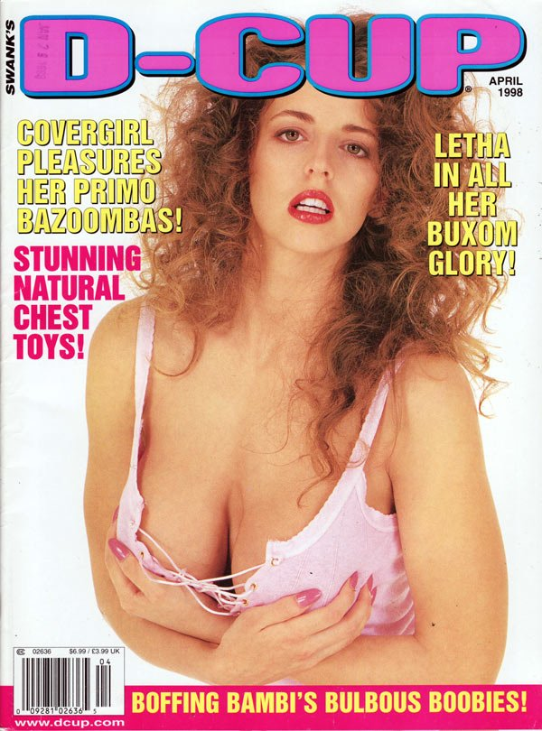 D-Cup April 1998 magazine back issue D-Cup magizine back copy d-cup covergirl magazine, letha nude xxx natural chests, hot girls, bambi boobies, xxx hardcore pict