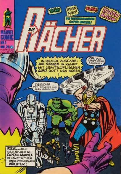 Die Racher Comic Book Back Issues of Superheroes by A1Comix