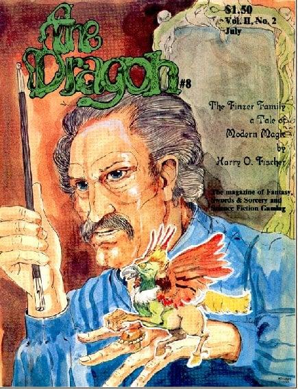Dragon # 8 magazine back issue Dragon magizine back copy