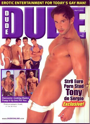 Dude April 2003 magazine back issue Dude magizine back copy