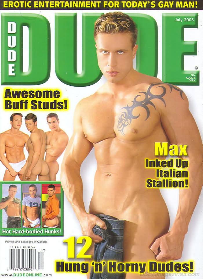 Dude July 2003 magazine back issue Dude magizine back copy